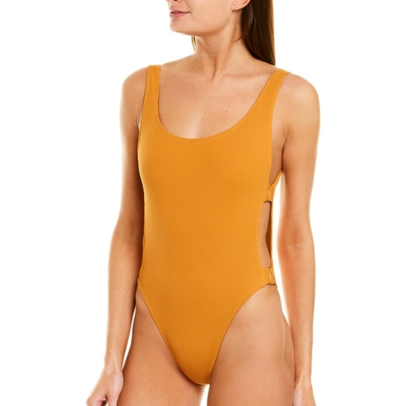 L Space Swimsuit Mustard Yellow Size 4